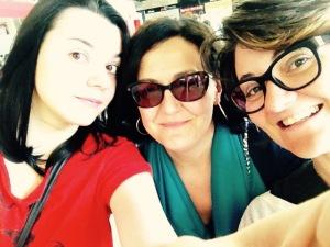 Rita, Alessandra e io.